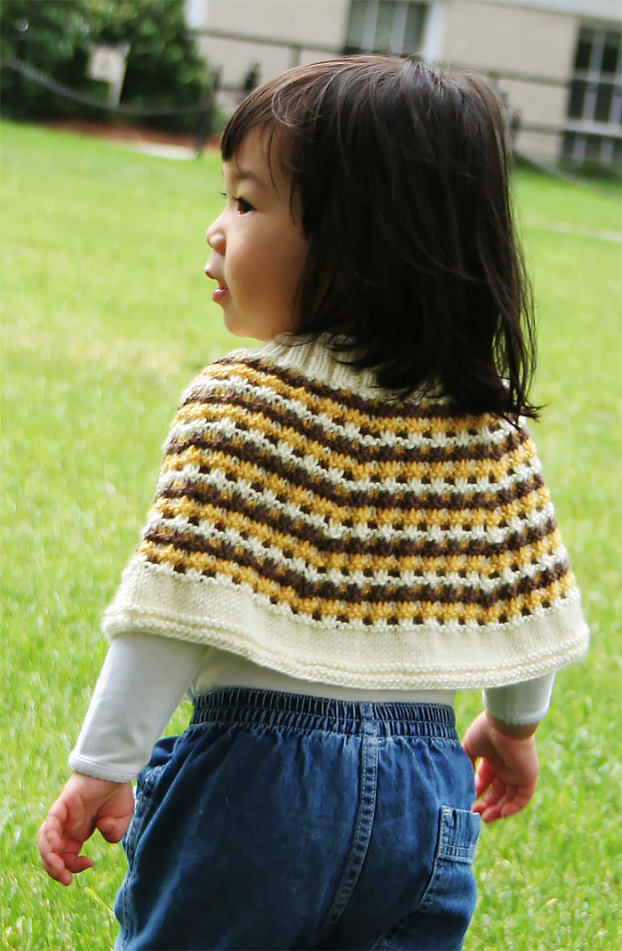 Free Knitting Pattern for Little Bee Capelet