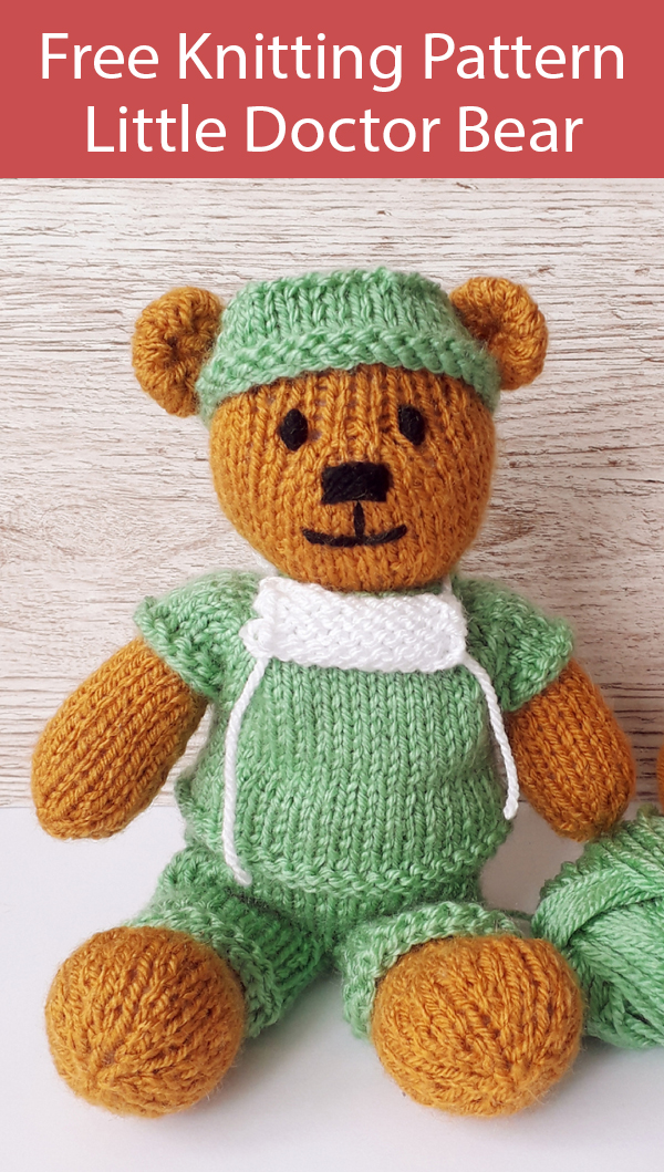 Frontline Scrubs Hero Teddy Bear Knit Pattern – Knitting | 1059x600