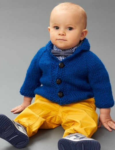 Little Gentleman Jacket Free Knitting Pattern | Free Baby and Toddler Sweater Knitting Patterns including cardigans, pullovers, jackets and more http://intheloopknitting.com/free-baby-and-child-sweater-knitting-patterns/