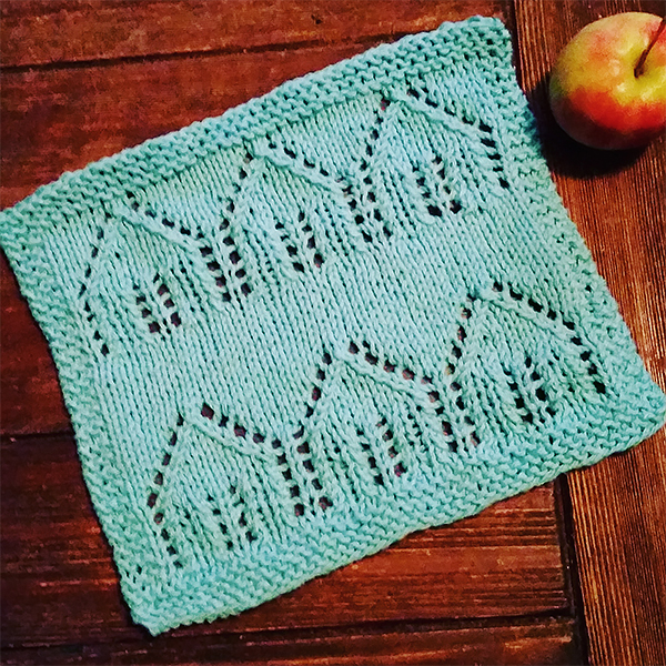 Free knitting pattern for Little Houses Cloth