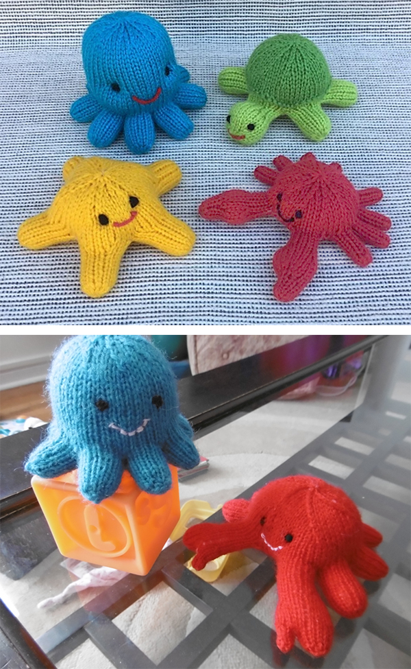 Free Knitting Pattern for Little Sea Creatures