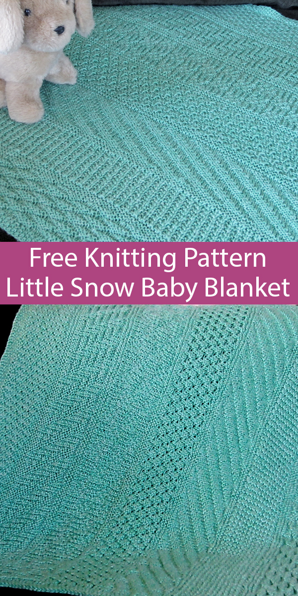 Free Easy Knitting Pattern for Little Snow Baby Blanket