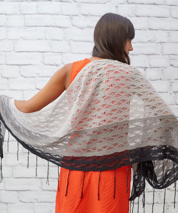 Free Knitting Pattern for Little Waves Shawl