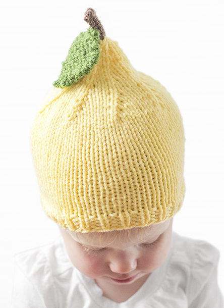 Free Knitting Pattern for Lemon Baby Hat