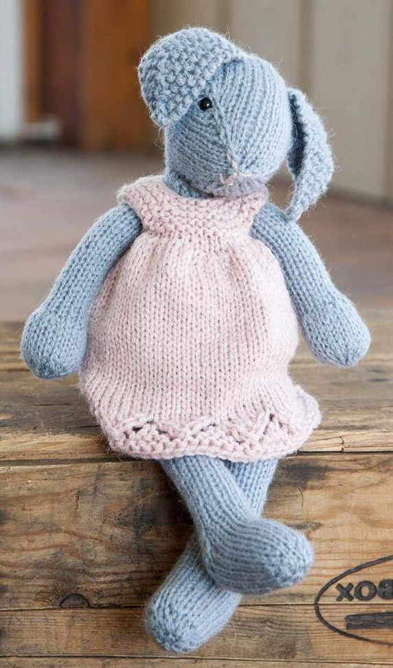 Free Knitting Pattern for Lizzie Rabbit