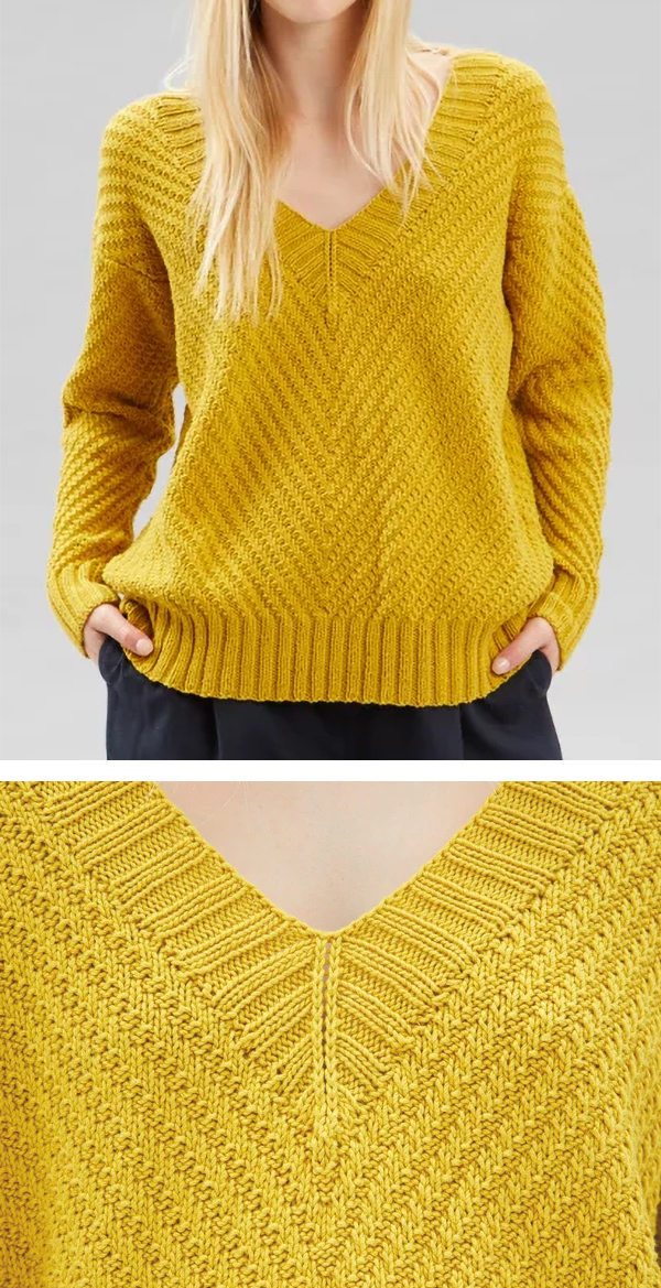 Knitting Pattern for Lizzy Pullover