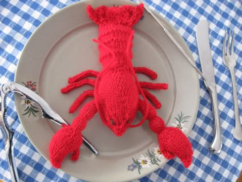 Free knitting pattern for Toy Lobster and more sea animal knitting patterns