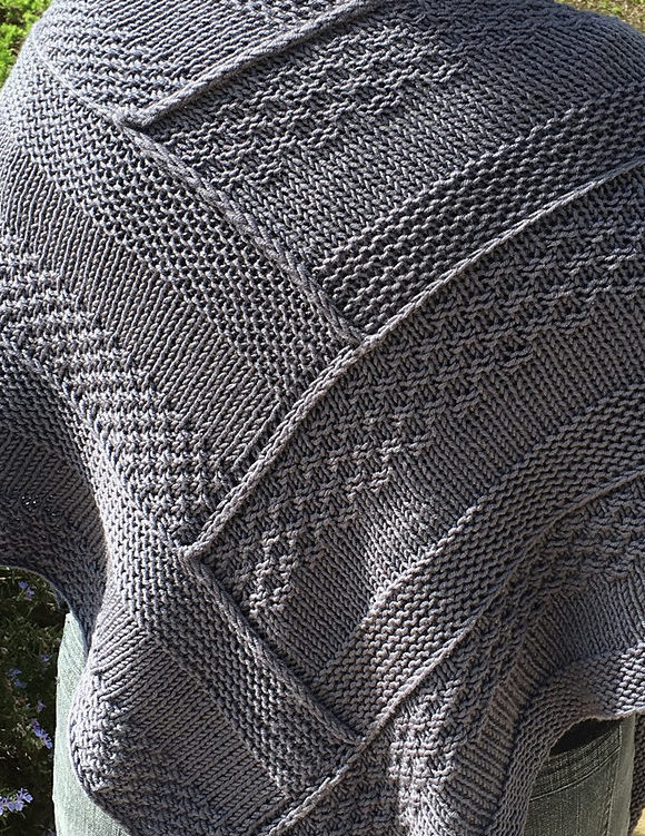 Free Knitting Pattern for Log Cabin Shawl