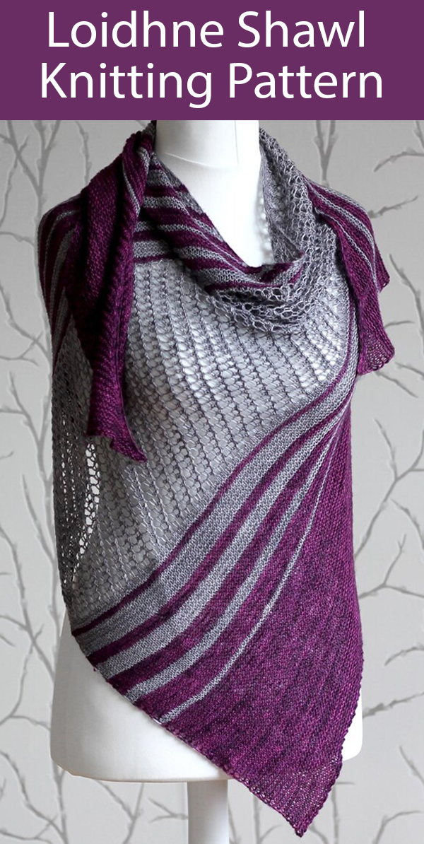 Shawl Knitting Pattern for Loidhne Shawl