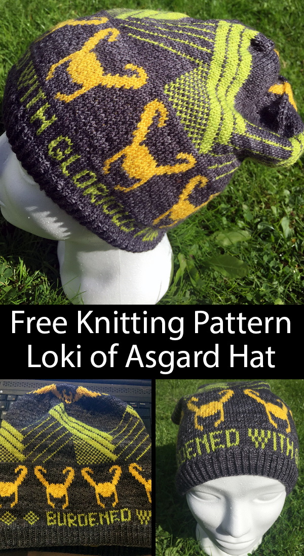 Free Knitting Pattern for Loki of Asgard Hat