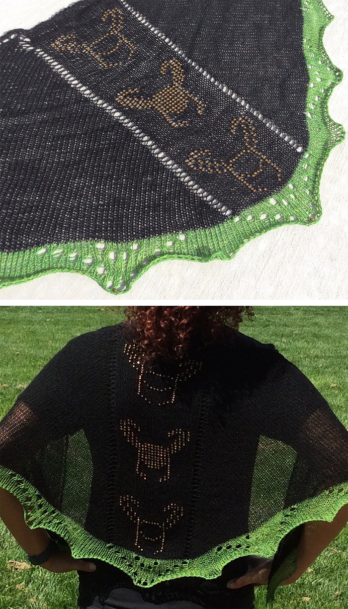 Free Knitting Pattern for Loki Shawl