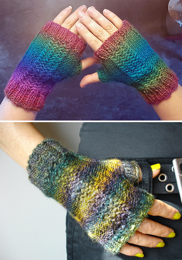 Free Knitting Pattern for 2 Row Repeat Lola Mitts
