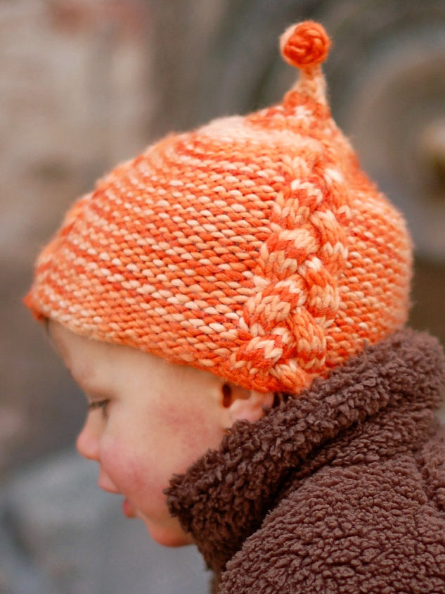 Knitting Pattern for Lollie Cabled Pixie Hat