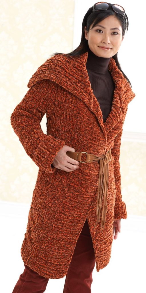 Long Coat Free Knitting Pattern and more free jacket and coat knitting patterns