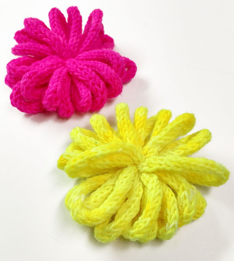 Free Knitting Pattern for Loopy I-Cord Pompom