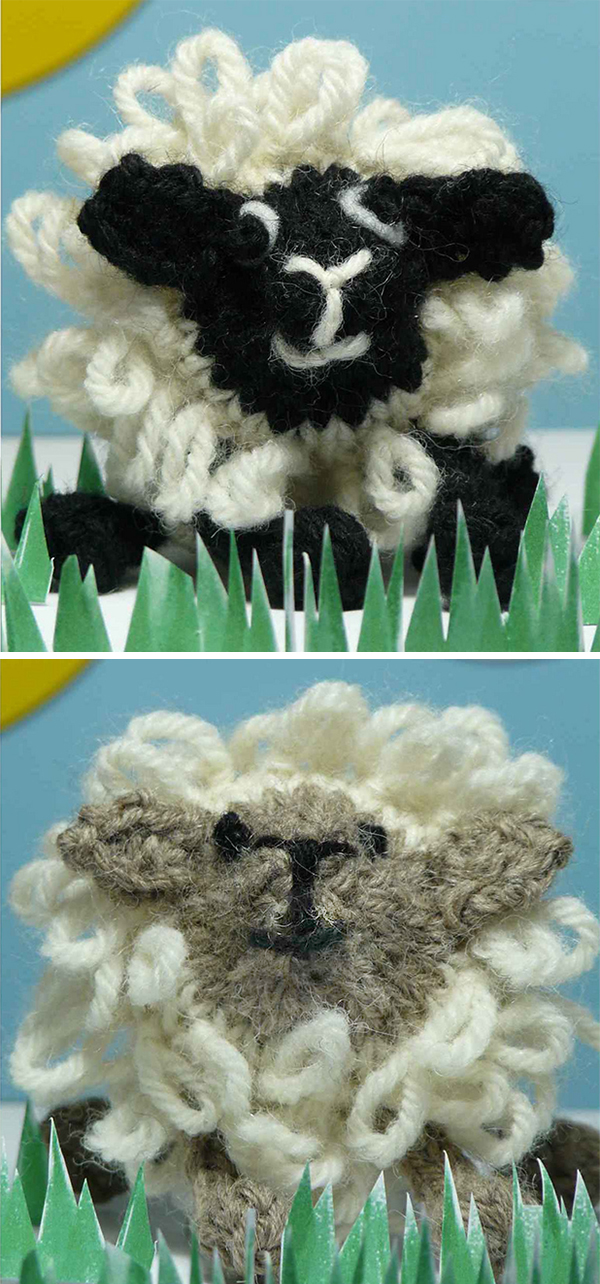Free Knitting Pattern for Loopy Sheep