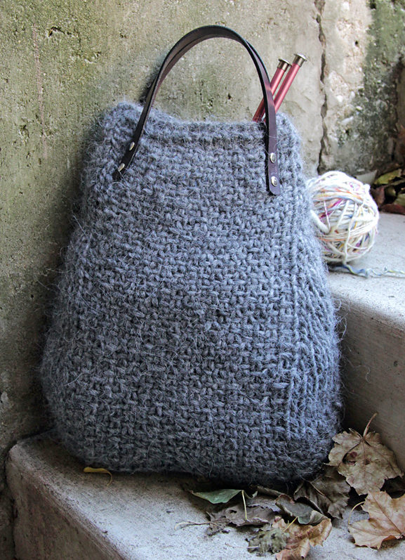 Free Knitting Pattern for 4 Row Repeat Lopi Tote
