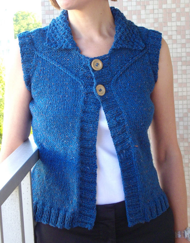 Knitting Pattern for Loretto Vest