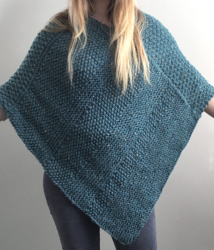 Knitting Pattern for Lorna Poncho
