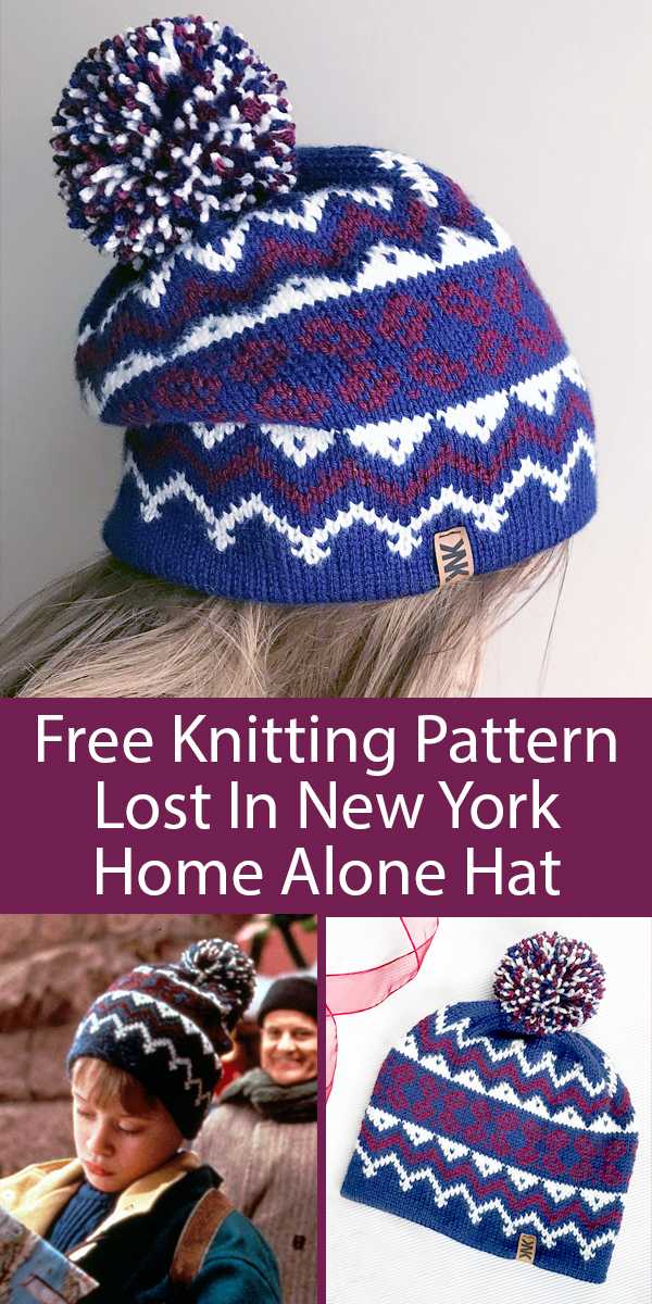 Free Knitting Pattern for Home Alone Lost In New York Hat