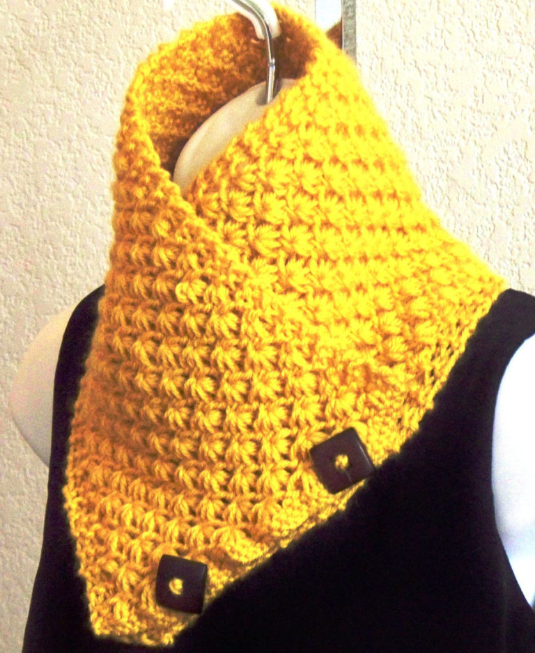 Knitting Pattern for Lotus Flower Neckwarmer