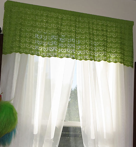 Free Knitting Pattern for Lotus Lace Valance