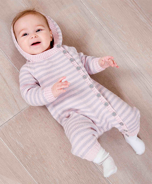 Knitting Pattern for Lova Babygrow Onesie
