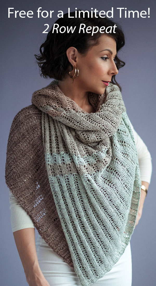 Free for a Limited Time Knitting Pattern for Love and Lace Shawl