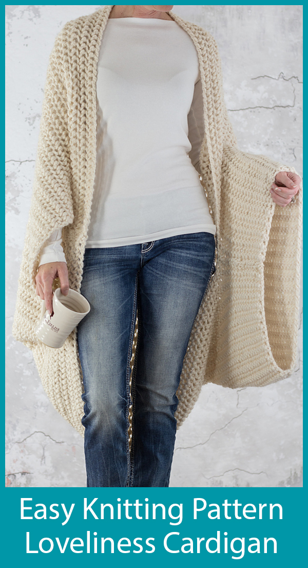 Knitting Pattern for Easy Loveliness Cardigan