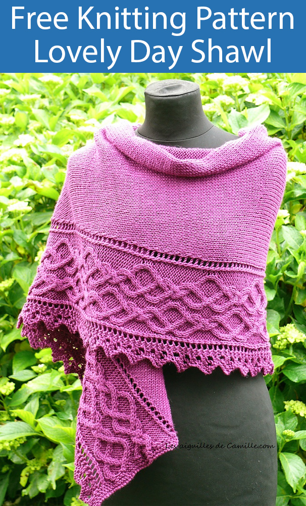 Free Knitting Pattern for Lovely Day Shawl
