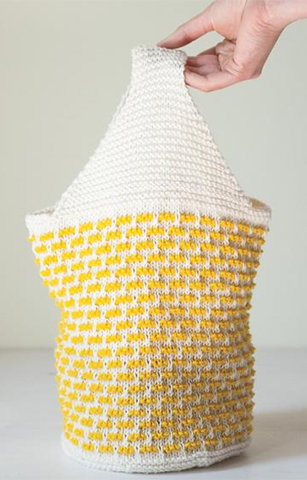 Free Knitting Pattern for Lovely Lunch Bag