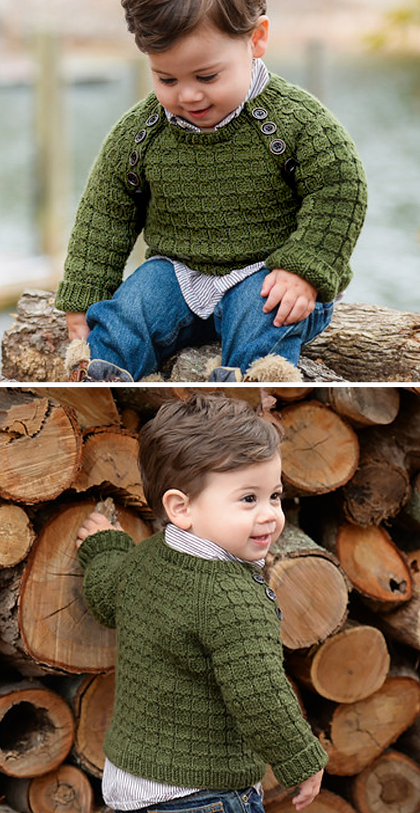 Knitting Pattern for Lumberjack Baby and Child Sweater