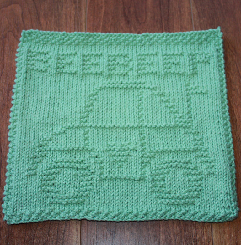Free Knitting Pattern for Luv Bug Dish Cloth