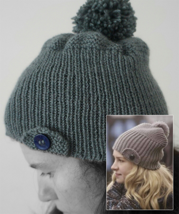 Free Knitting Pattern for Lux Hat inspired by Life Unexpected