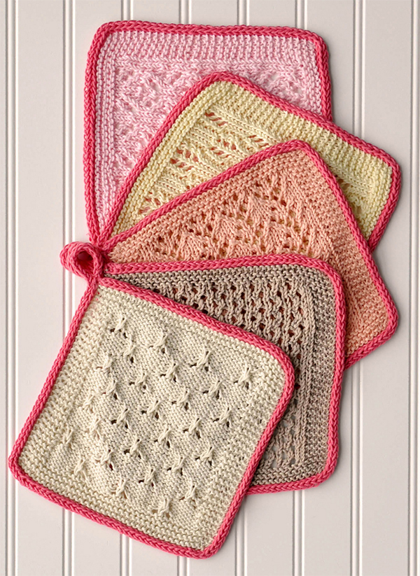 Free Knitting Pattern for Macaron Cloths