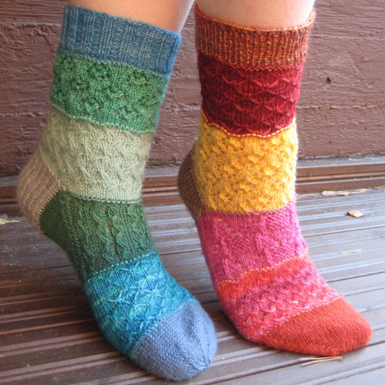 Free Knitting Pattern for Stashbuster Mad Mix Socks