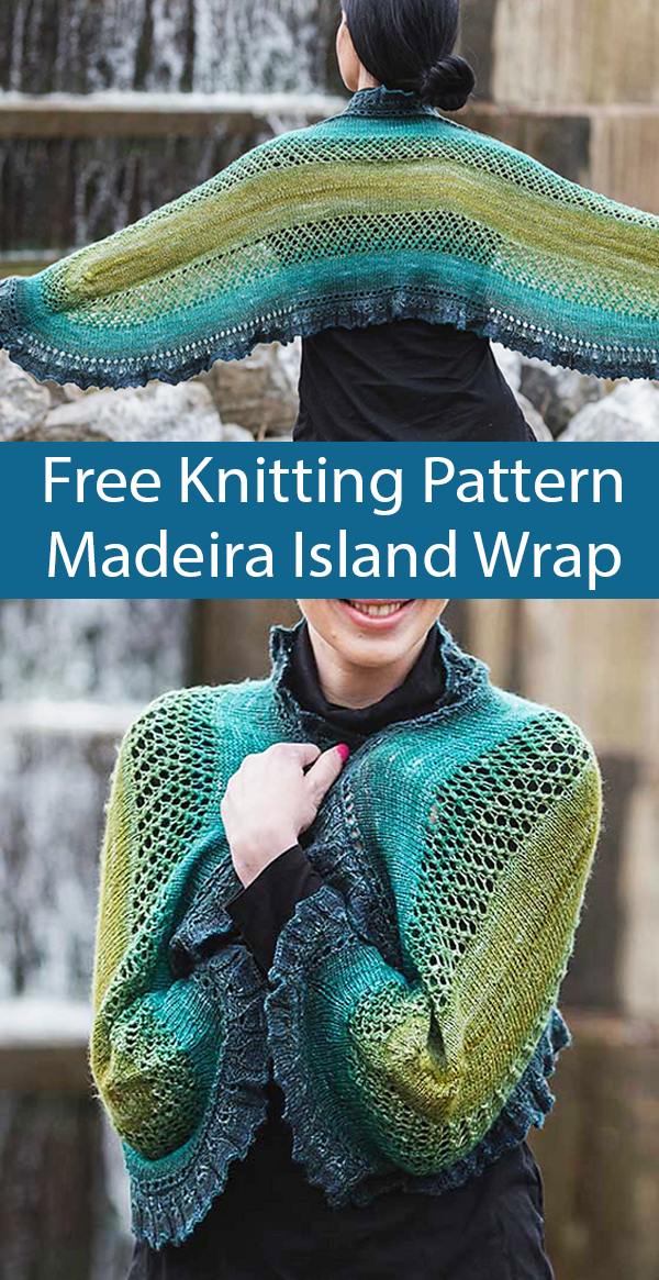 Free Knitting Pattern for Madeira Island Wrap