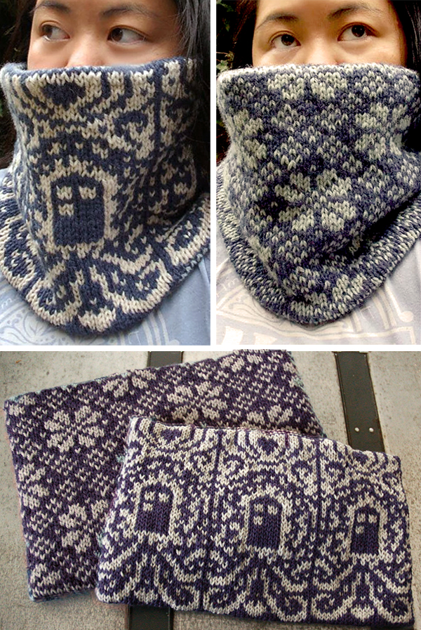 Knitting Pattern for Doctor Who Inspired Cowl