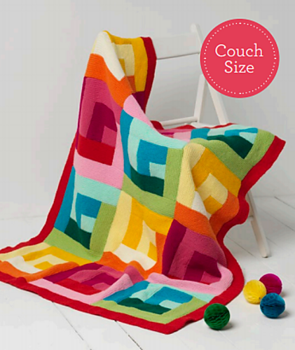Free knitting pattern for Magnum Throw
