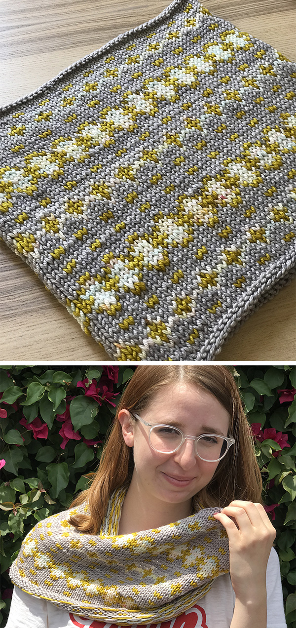 Free through Summer 2018 Knitting Pattern for 5 Stitch Repeat Maize Cowl