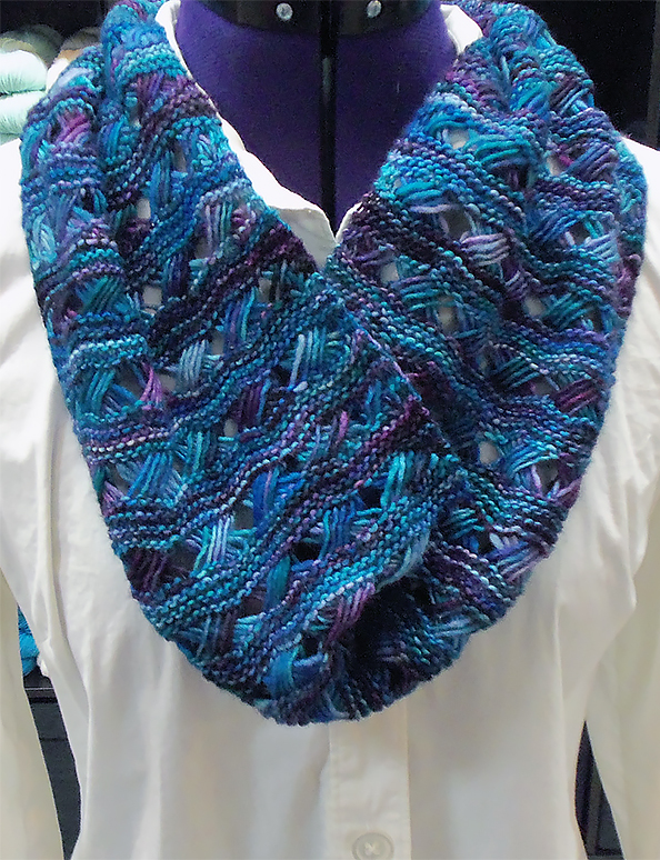 Free Knitting Pattern for Maya Cowl/Stole/Scarf