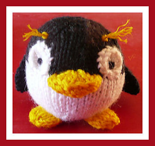 Free knitting pattern for Mak Penguin plush toy