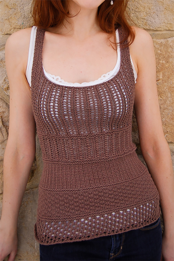 Free Knitting Pattern for Make Up Your Mind Tank