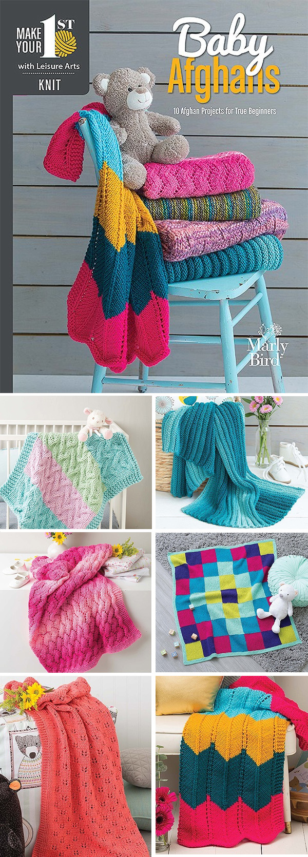 Make Your First Knit Baby Afghans - 10 Afghan Projects for True Beginners