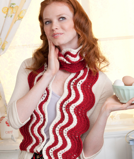 Bacon Scarf Free Knitting Pattern