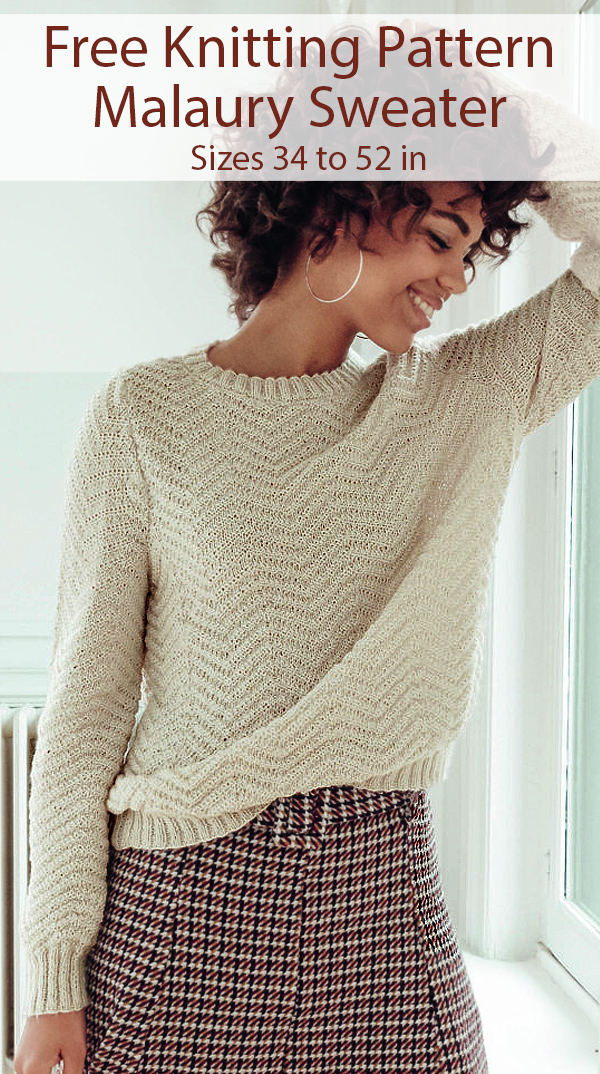 Free Knitting Pattern for Malaury Sweater