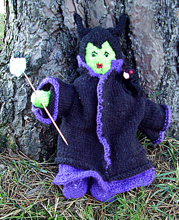Free Knitting Pattern for Sleeping Beauty's Maleficent Doll