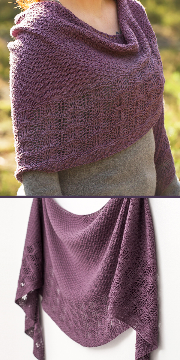 Knitting Pattern for Malva Shawl