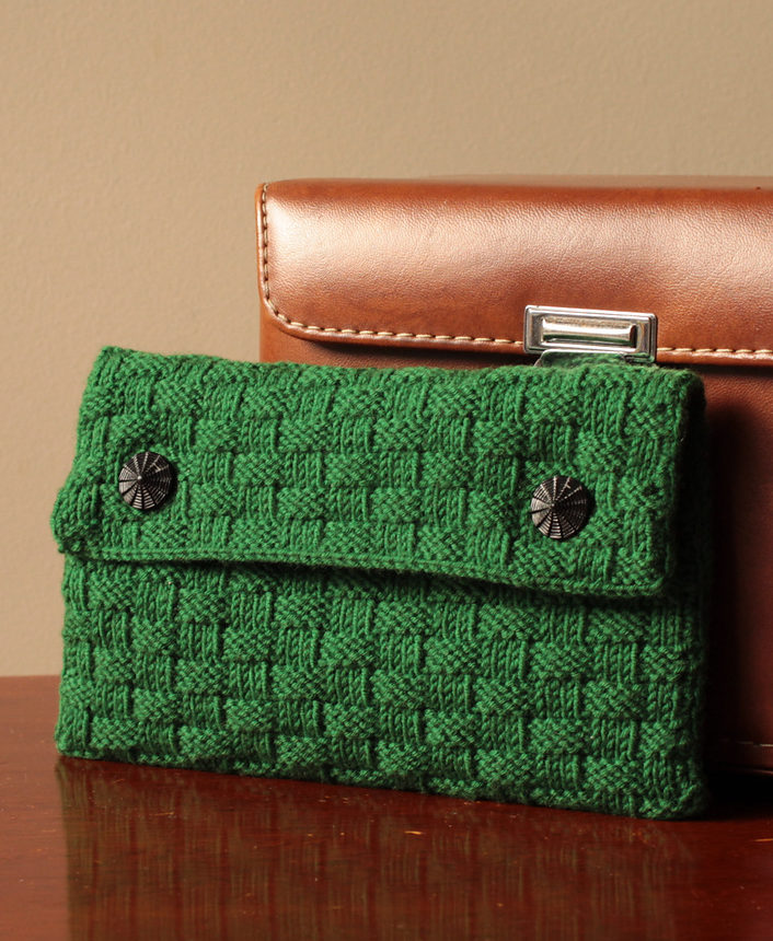 Free Knitting Pattern for Mamie Clutch