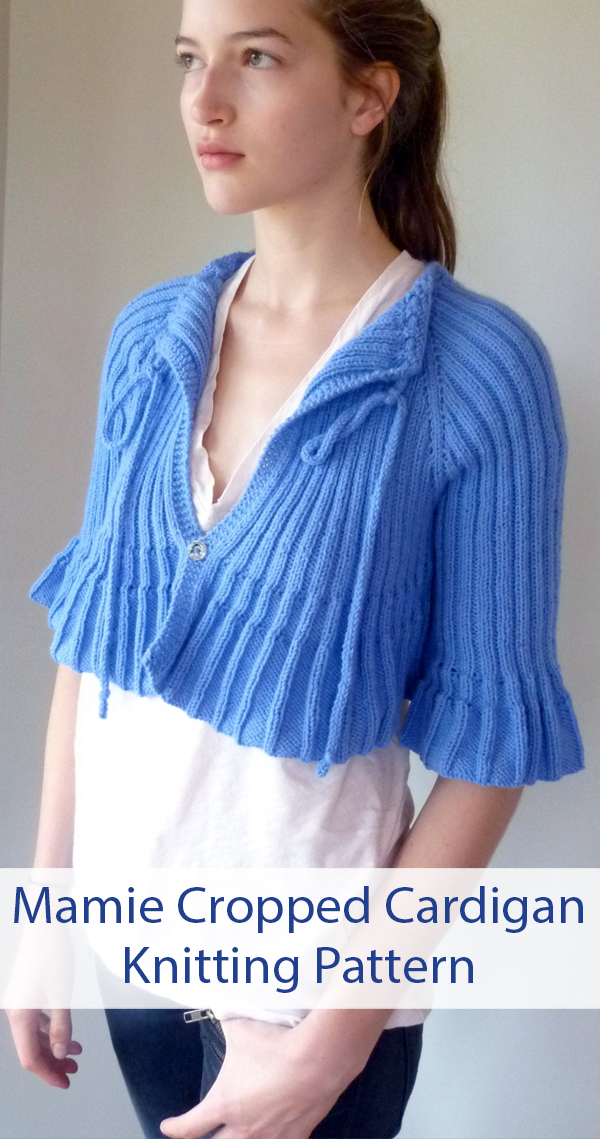 Knitting Pattern for Mamie Cropped Cardigan